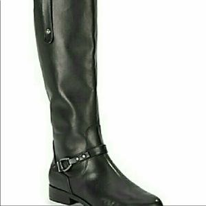 Charles David Black Leather boots women's 6 1/2